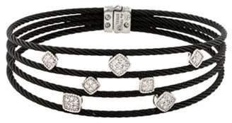 Charriol Diamond Station Celtic Noir Bracelet Noir Diamond Station Celtic Noir Bracelet