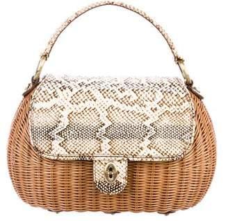 Eric Javits Wicker Handle Bag