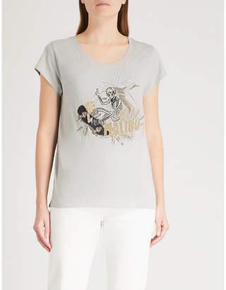 Zadig & Voltaire Meryl skeleton-print cotton-blend T-shirt