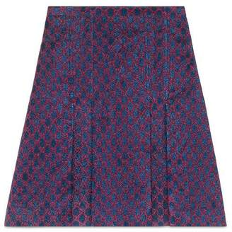 Gucci GG lurex pleated mini skirt