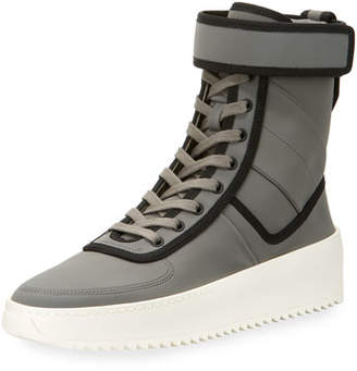 Fear Of God Men's Leather High-Top Military Sneakers