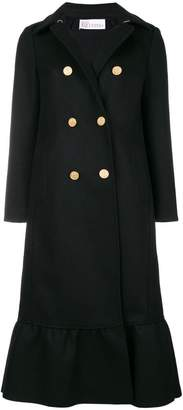 RED Valentino double-breasted flared coat