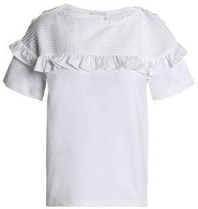 Chloé Ruffle-trimmed Cotton-jersey Top