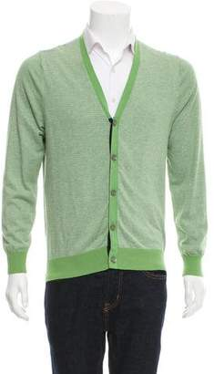 Barneys New York Barney's New York Woven Button-Up Cardigan