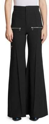 Chloé Stretch Wool Flare Pants