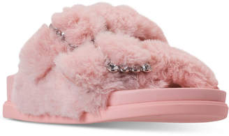 Steve Madden Little Girls JFancy Faux Fur Slide Sandals from Finish Line