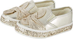 Monsoon Baby Knot Bow Glitter Slip On Pumps