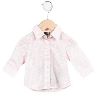 Fendi Girls' Zuccha Button-Up Top w/ Tags