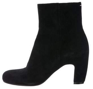 Maison Margiela Suede Round-Toe Ankle Boots