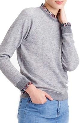 J.Crew Ruffle Trim Sweatshirt $59.50 thestylecure.com