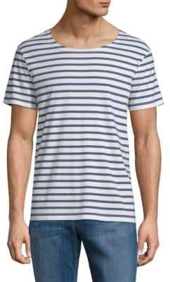 Eleven Paris Shell Striped Cotton Tee
