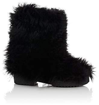 Saint Laurent Women's Booly Lambswool Ankle Boots