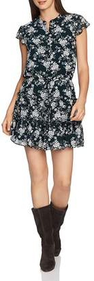 1 STATE 1.STATE Floral Print Tiered Ruffle Dress