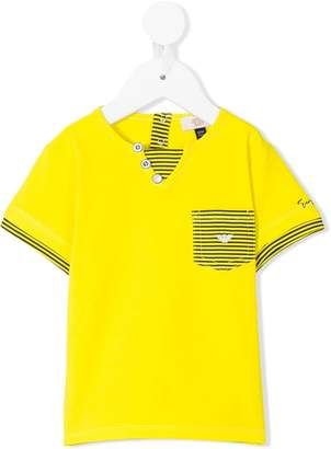 Emporio Armani Kids striped detail T-shirt