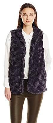 True Grit Dylan by Women's Silky Faux Fur Double Layer Classic Vest