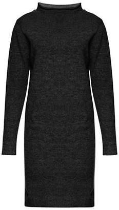 Ichi Merci Mock Neck Wool-Blend Sweater Dress