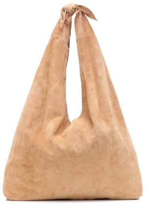 The Row Bindle Knot suede shoulder bag