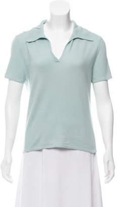 TSE Short Sleeve Knit Top Blue Short Sleeve Knit Top