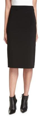DKNY Crepe Pencil Skirt, Black $298 thestylecure.com