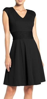 Women's Eliza J Ponte Fit & Flare Dress $98 thestylecure.com