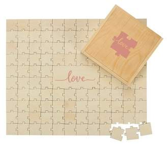 Cathy's Concepts Tan Love Wedding Guestbook Puzzle