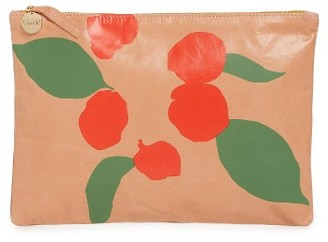 Clare V. Bougainvillea Leather Clutch - Pink $225 thestylecure.com