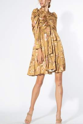 BEIGE Beulah Style Floral Dress