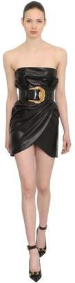 Versace Wrapped Leather Dress