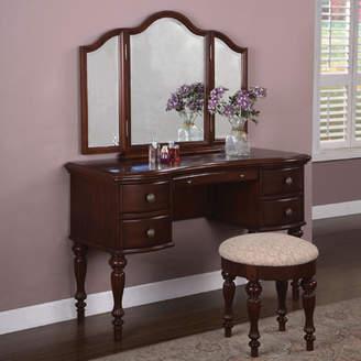 Alcott Hill Gonson Vanity Set with Mirror