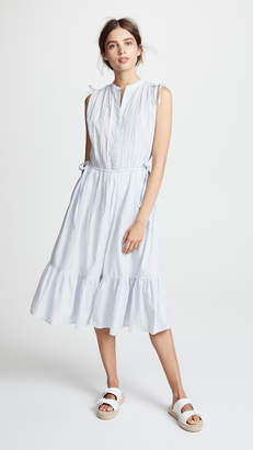 Birds of Paradis Riley Shirred Shoulder Dress