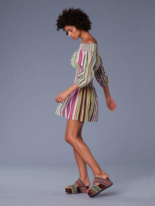 Diane von Furstenberg Off-The-Shoulder Mini Dress