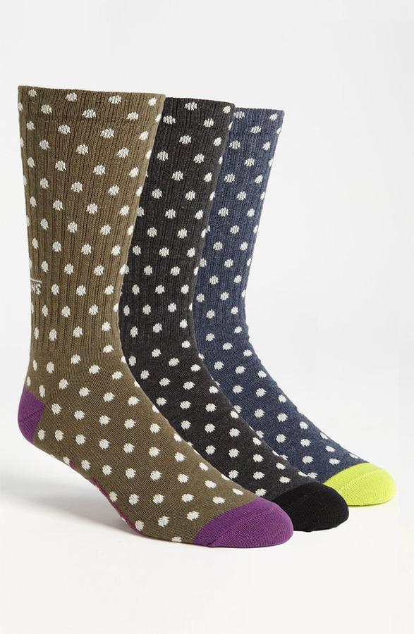 Vans Polka Dot Crew Socks (3-Pack) Multi One Size