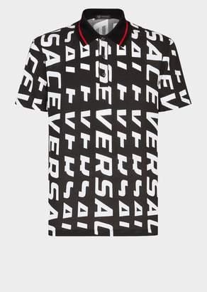 Versace Logo Print Polo Shirt