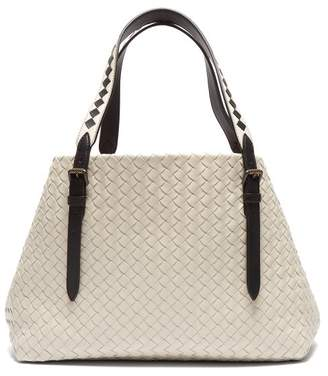 Bottega Veneta Cesta Intrecciato Leather Tote Bag - Womens - Light Grey