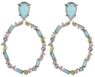 Alexis Bittar Multi-Stone Dangling Clip Earring Bracelet