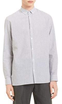 Calvin Klein Yarn-Dye Seersucker Dobby Stripe Shirt