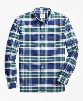 Brooks Brothers Plaid Oxford Cotton Sport Shirt