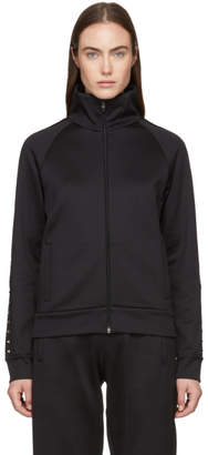 Valentino Black Rockstud Zip-Up Sweater