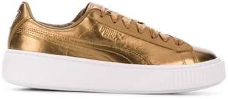 Puma Basket metallic sneakers