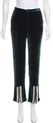 Maki Oh High-Rise Velvet Pants