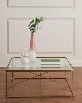 Lockner Metal & Glass Square Coffee Table