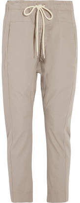 Bassike Cotton-drill Tapered Pants - Taupe