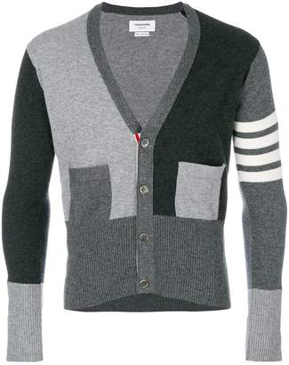 Thom Browne fitted waist v-neck cardigan