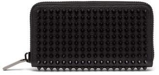 Christian Louboutin - Zip Around Spike Stud Leather Wallet - Mens - Black