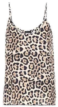 ATM Anthony Thomas Melillo Leopard printed silk top