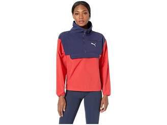 Puma 1/2 Zip Style Windbreaker Women's Coat