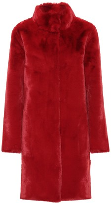 Velvet Mina faux fur reversible coat