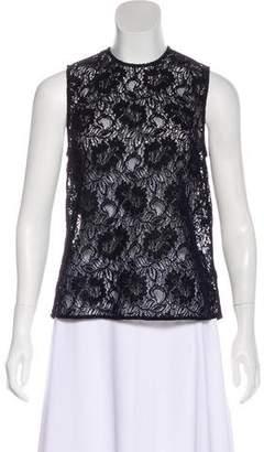 Rachel Comey Open Lace Sleeveless Top