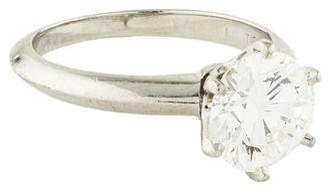 Tiffany & Co. & Co. Platinum Diamond The Setting Engagement Ring