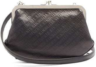 Vetements Granny logo-debossed leather cross-body bag